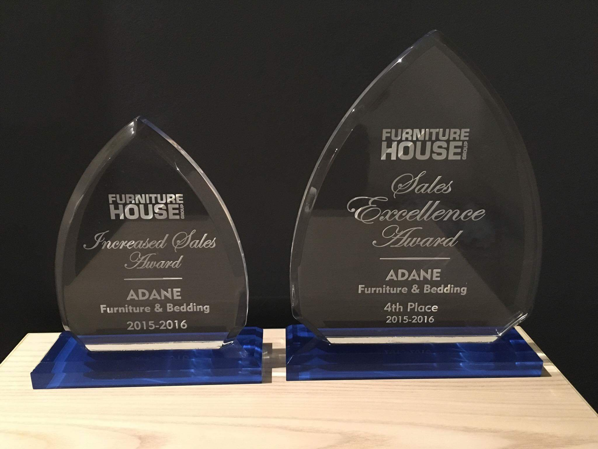 Furniture house sales excellence award
