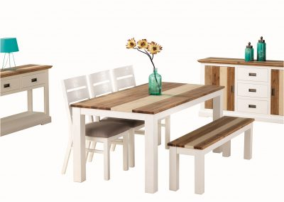 Dover 5pc Dining Table with Bench, Hall Table & Buffet (2)