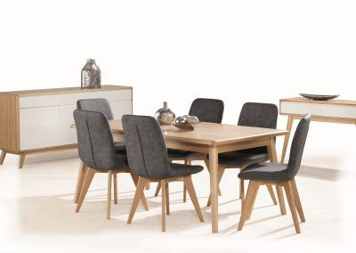 Jazz 7pc Dining, Buffet & Hall Table (2)