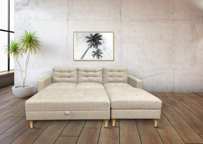 Tamworth 3S Lounge with Chaise - Lifestyle - Oatmeal